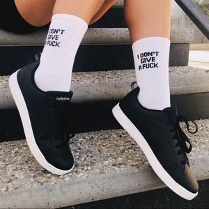 Accessories - IDGAF White Cotton Socks 🧦
